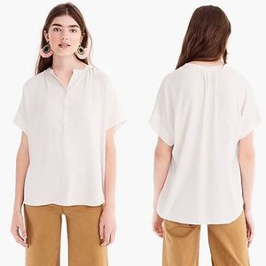 POINT SUR BY J.CREW Drapey popover shirt